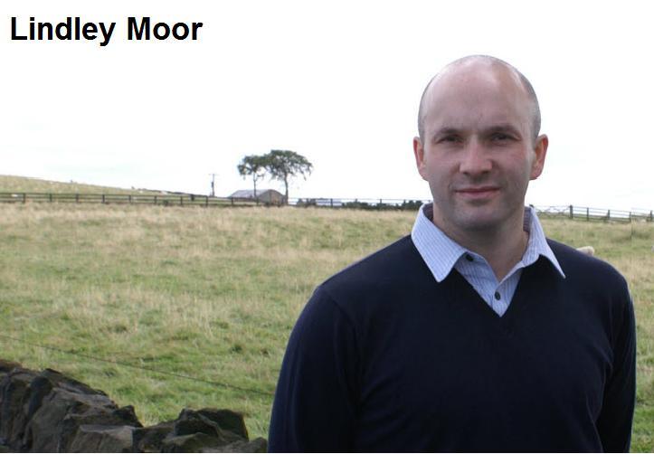 Cllr Cahal Burke at Lindley Moor.