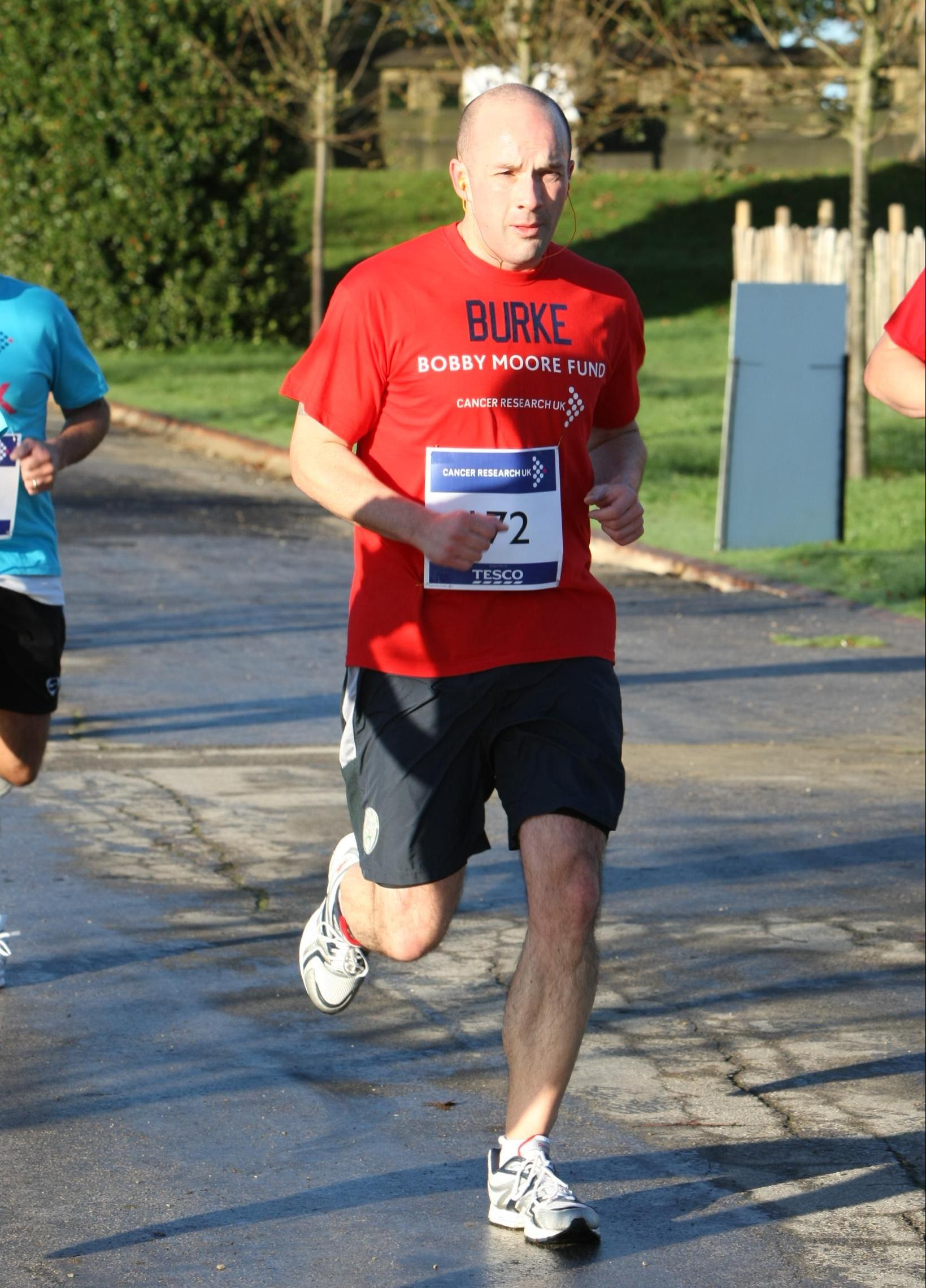 Cllr Cahal Burke, Huddersfield 10k for Cancer Research