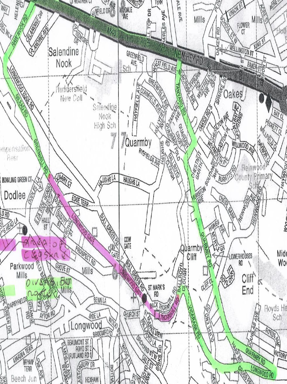 Closure of longwood gate and thornhill road