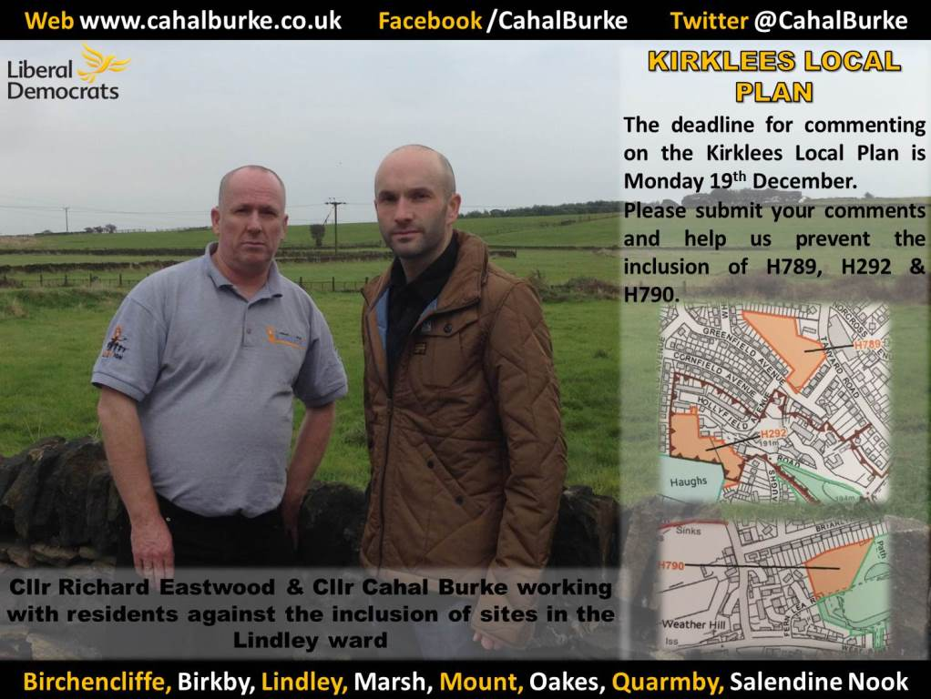 Cllr Burke and Eastwood campaigning the overdevelopment in our area