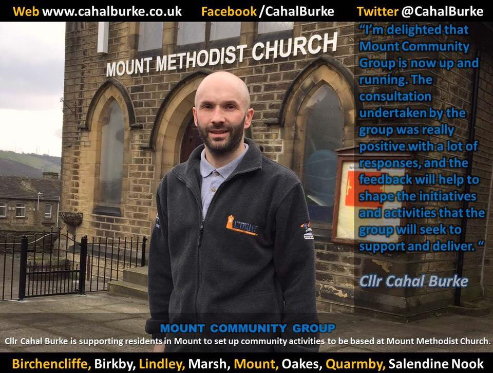 Mount Community Group will be based at Mount Methodist Church on Moorlands Road