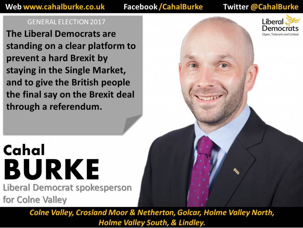 This election is a huge opportunity for voters in Colne Valley to change the direction of our country and prevent a disastrous hard Brexit.
