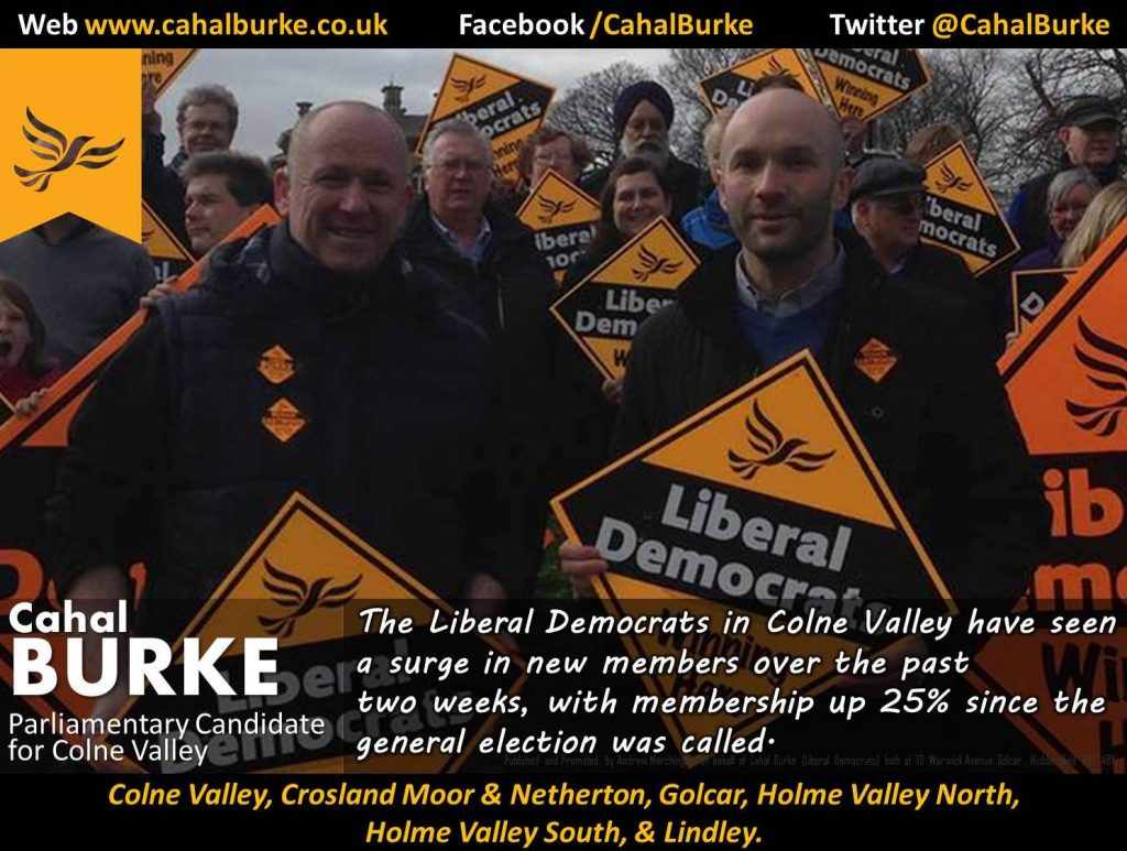 Cahal Burke, Parliamentary Candidate  for Colne Valley