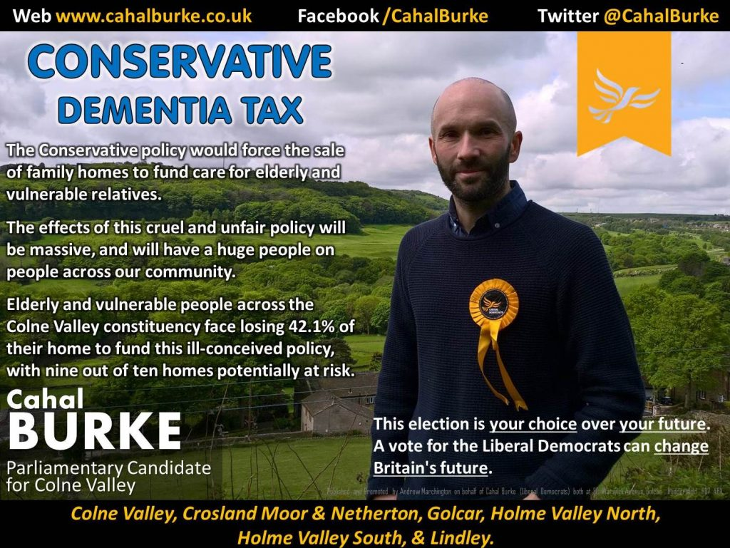 Cahal Burke (Liberal Democrat Parliamentary Candidate for the Colne Valley)