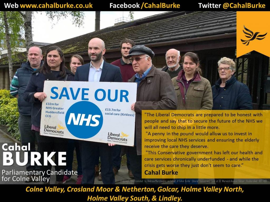 Cahal Burke and the Lib Dems fighting for OUR NHS